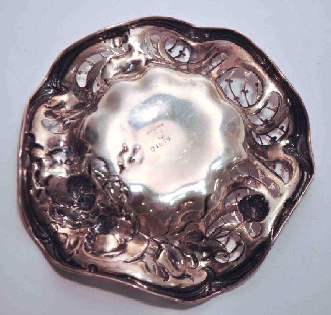 Small Delicate Sterling Silver Fluted Dish - 3
