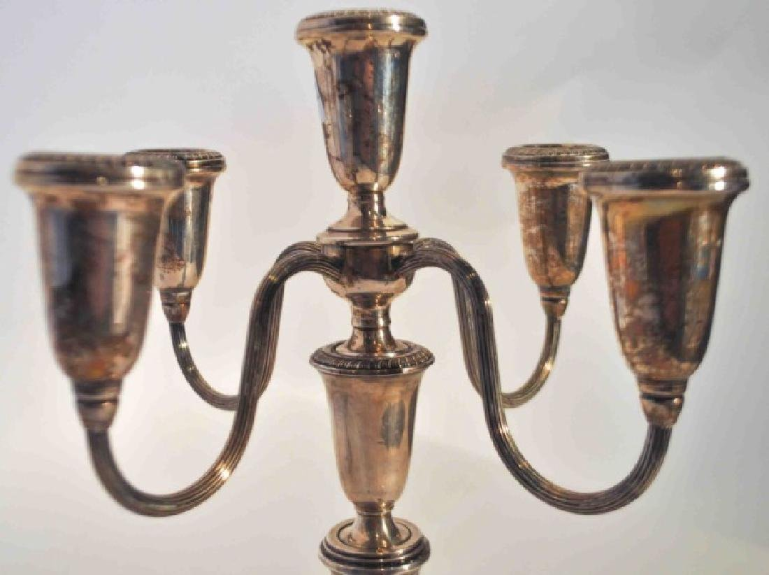 2 Poole Sterling Silver  Weighted  Candelabras - 2