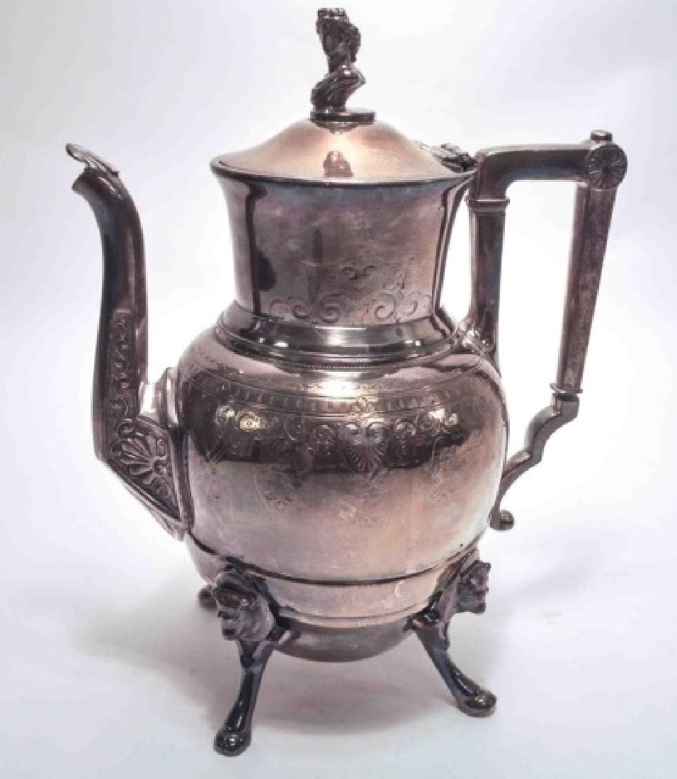 Redfield & Rice Figural Antique Silver Coffee Pot