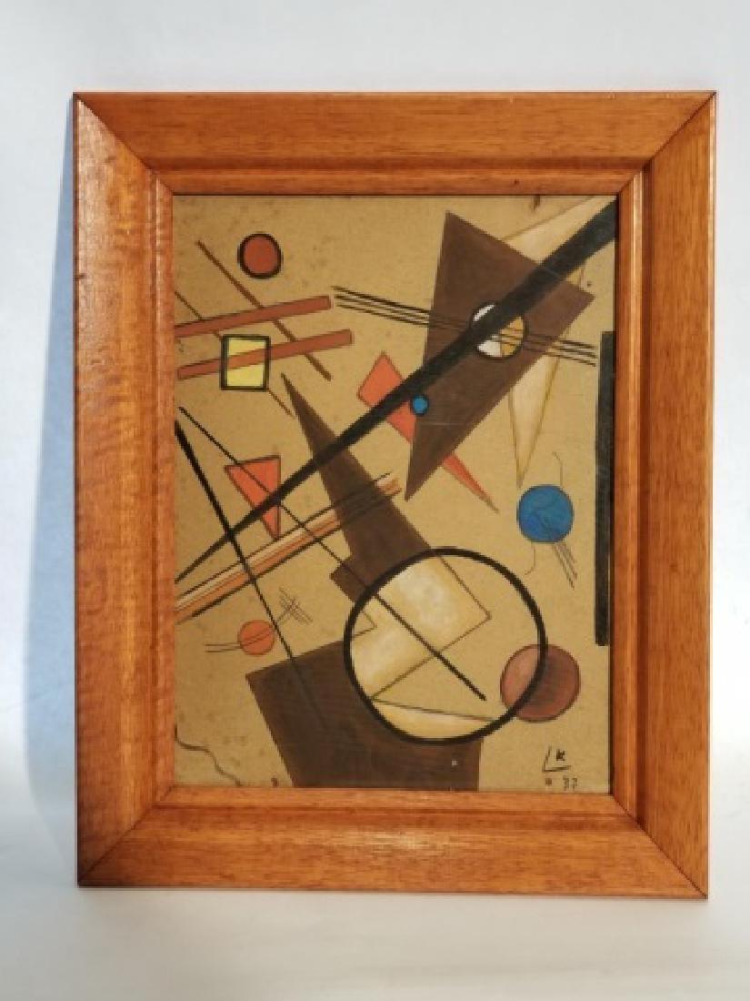 Original Signed Wassily Kandinsky Gouache on Paper