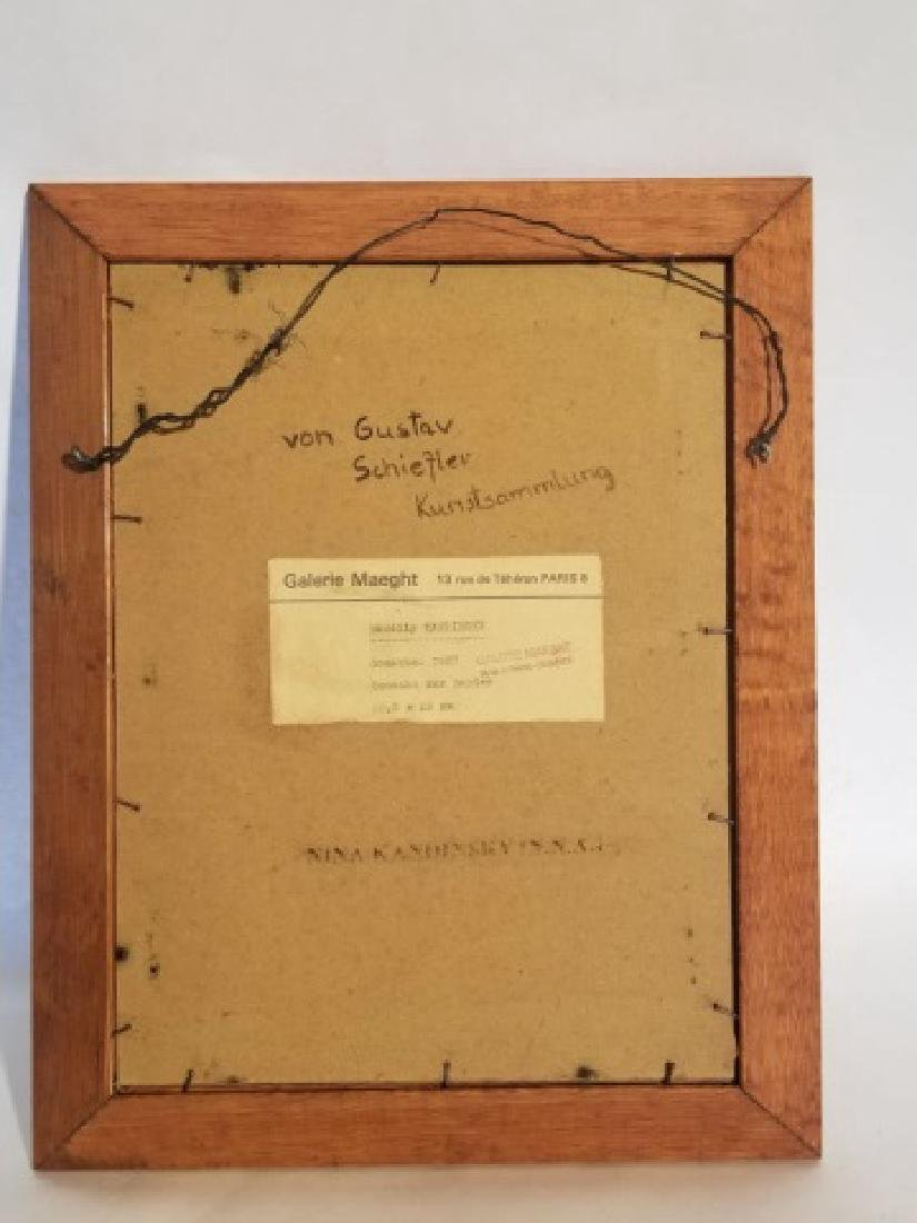 Original Signed Wassily Kandinsky Gouache on Paper - 4