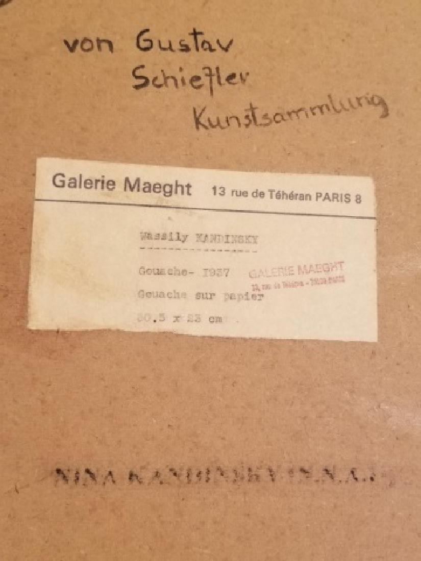 Original Signed Wassily Kandinsky Gouache on Paper - 5