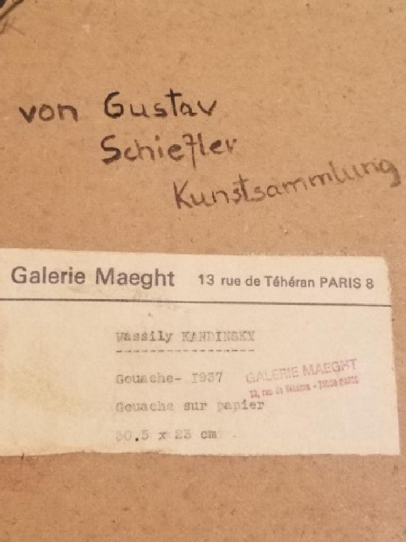 Original Signed Wassily Kandinsky Gouache on Paper - 6