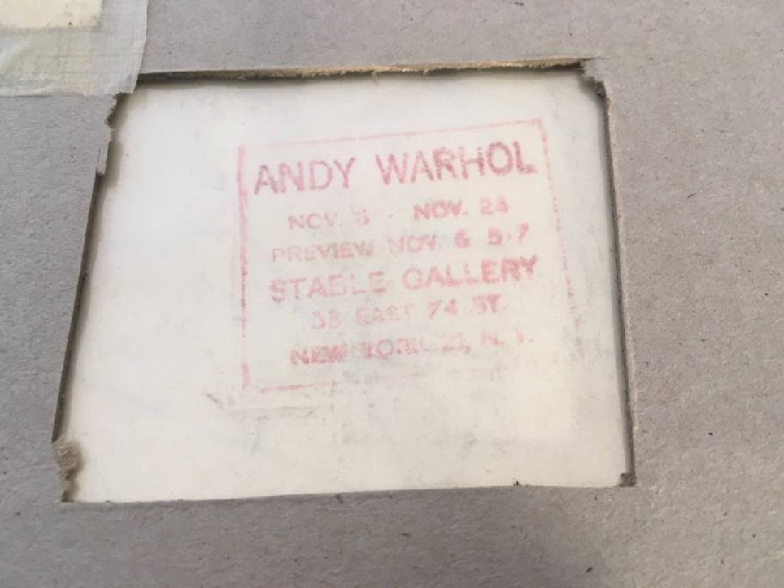 "Original Signed ""Andy Warhol"" Drawing ''Shoes'' - 6"