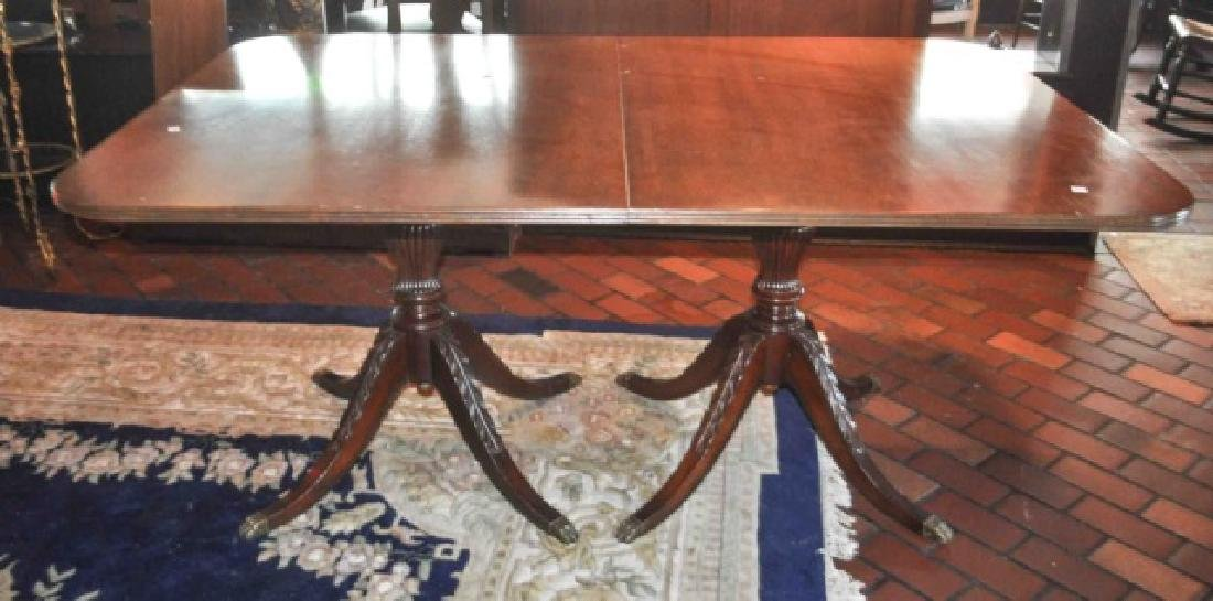 Duncan Phyfe Mahogany Double Pedestal Dining Table