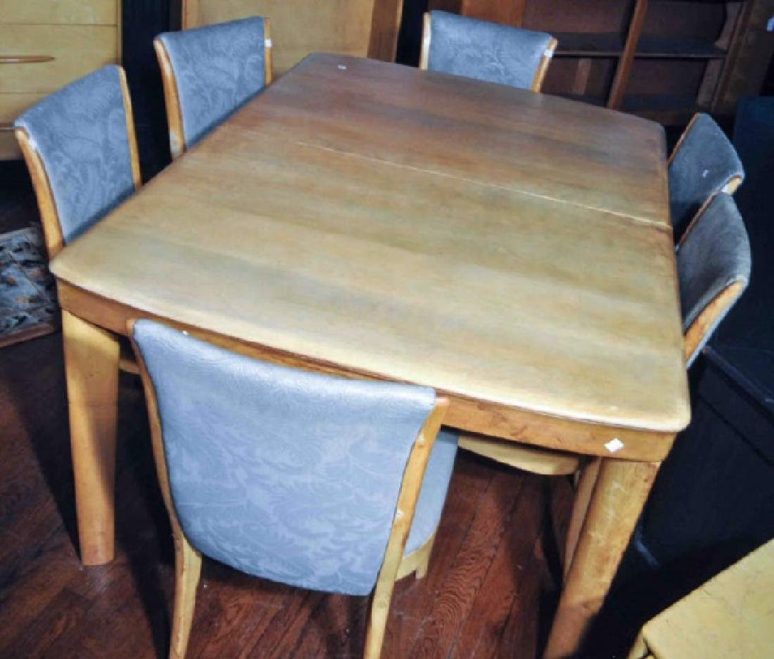 & MC Heywood Wakefield Dining Table and Chairs