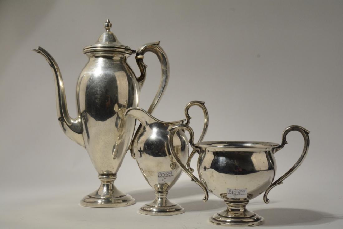 Gorgeous 3 piece Sterling Silver Tea Set