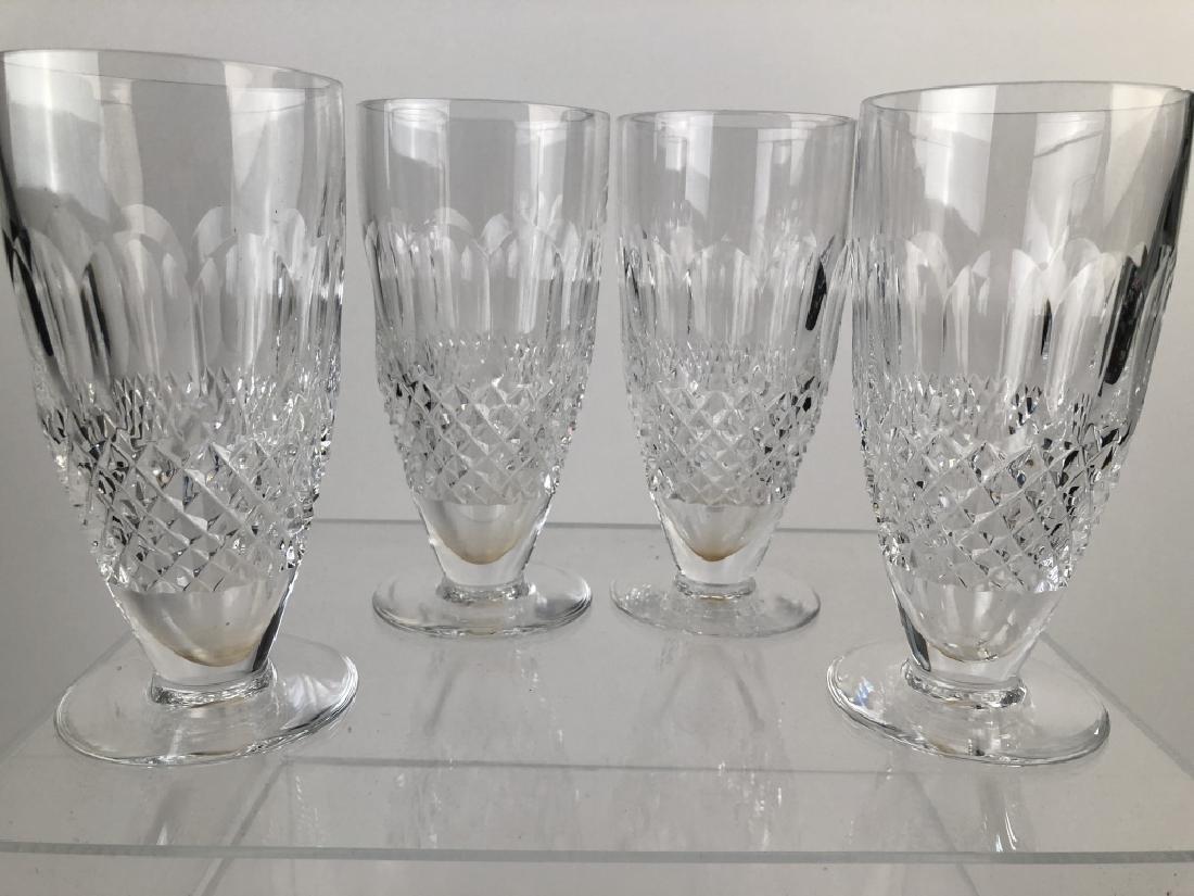 """Vintage 4 """"Rare"""" Waterford Crystal Ice Tea Glasses"""