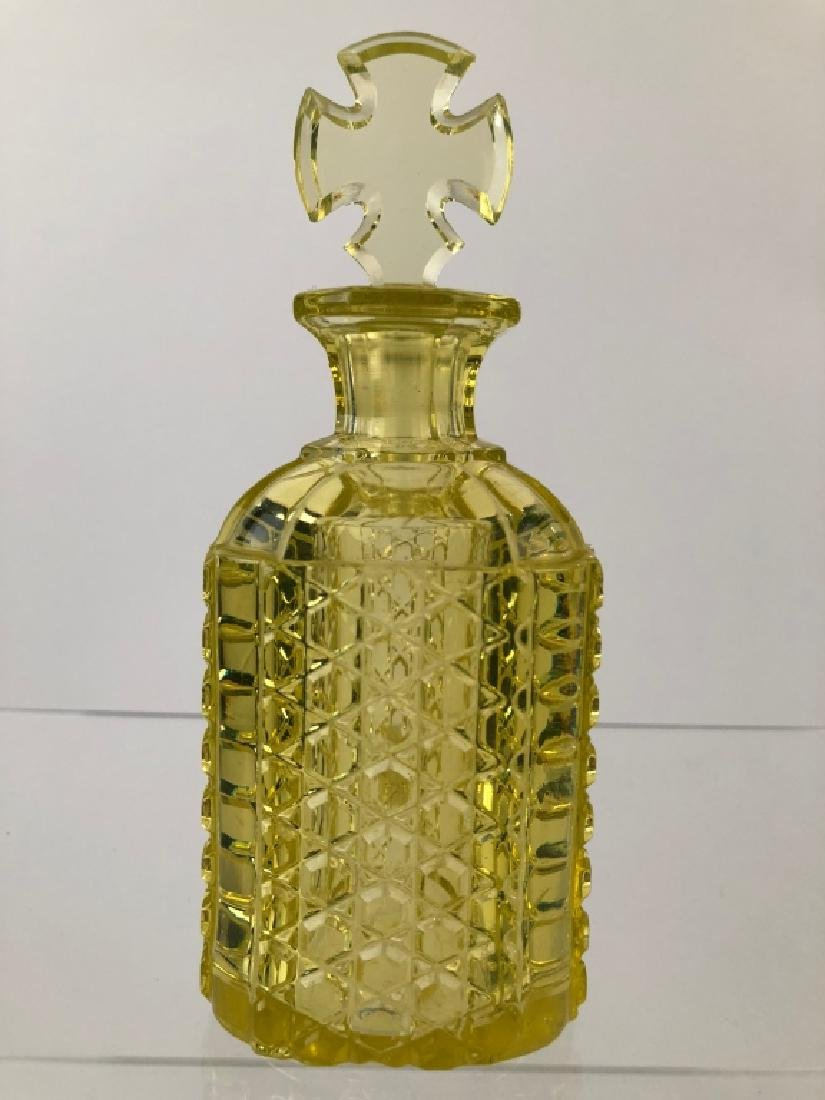 NE Glass Canary Yellow Perfume Bottle