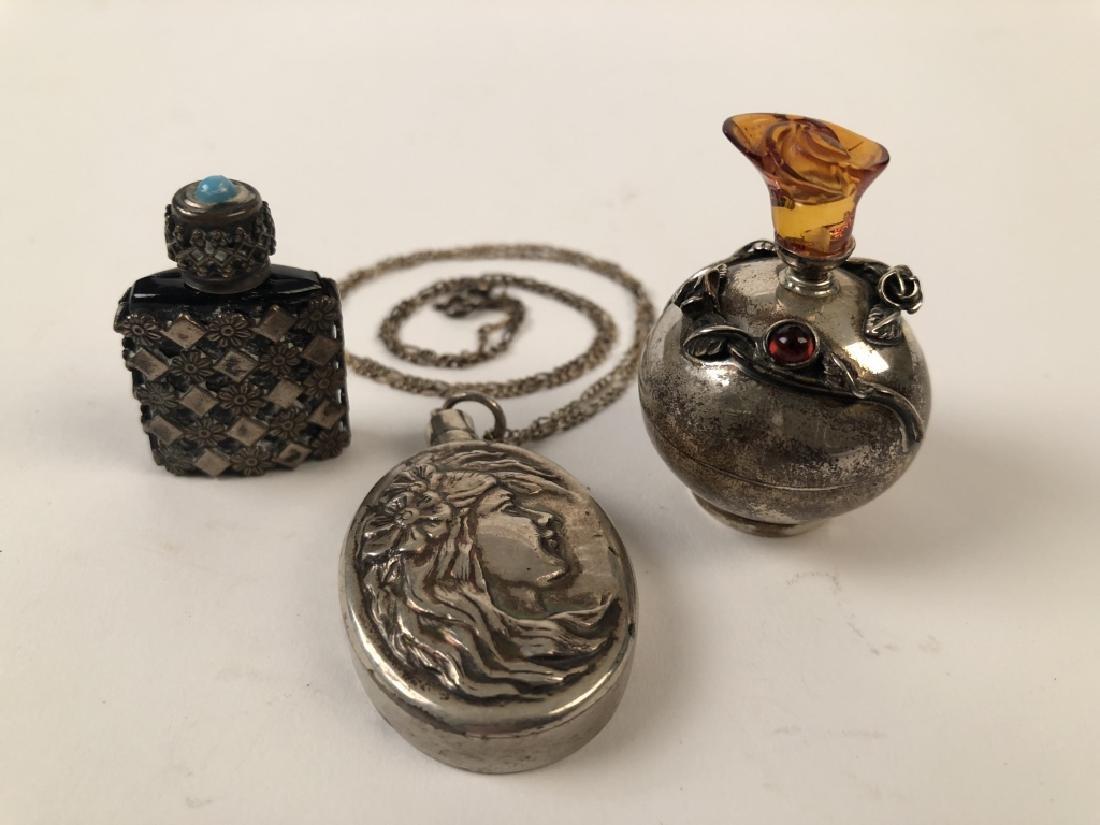 Unique Lot of 3 Mini Tear Catcher Perfume Bottles