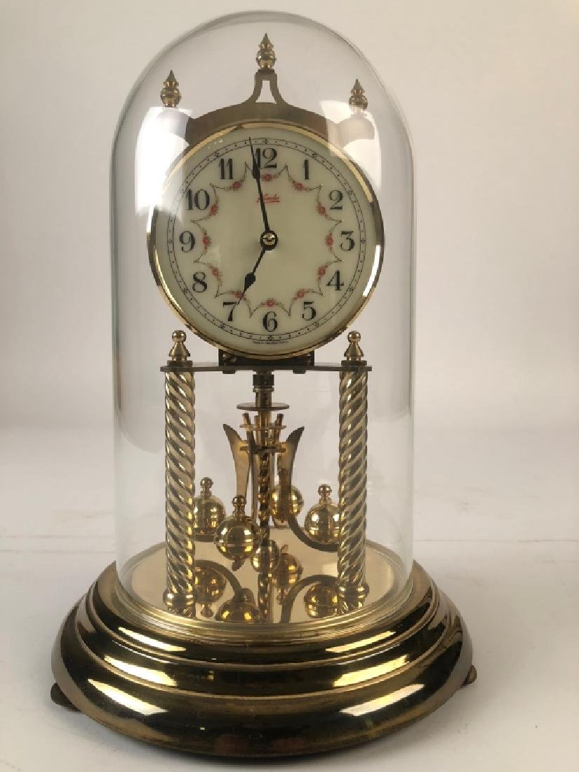 Kundo 400 Day Mantle Clock w/ Original Glass Dome