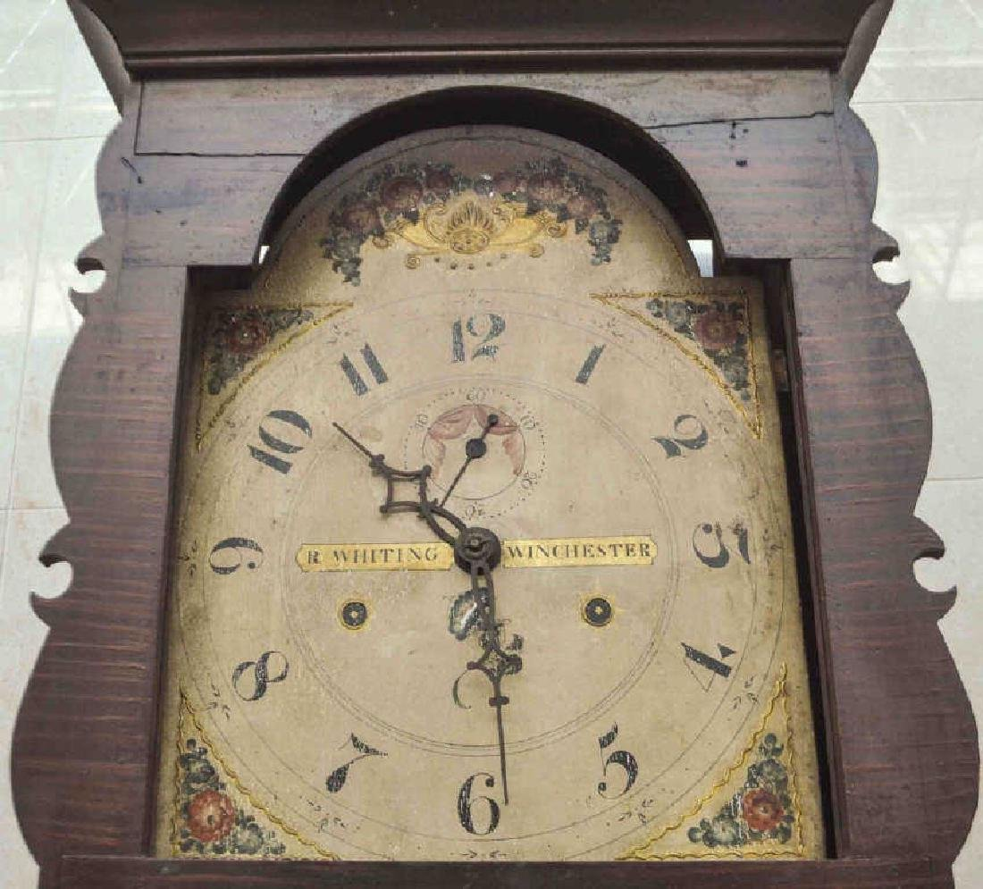 R. Whiting Winchester Wood Works Tall Case Clock