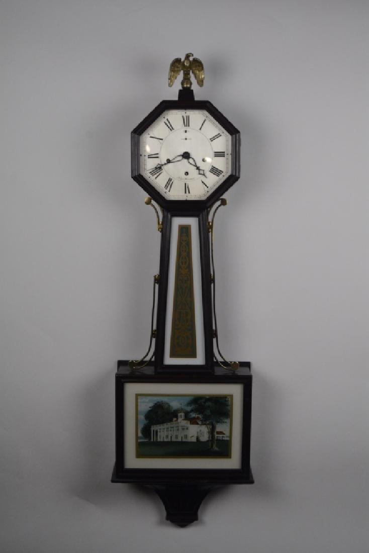Exceptional New Haven 1880 Banjo Clock Mint Tablet