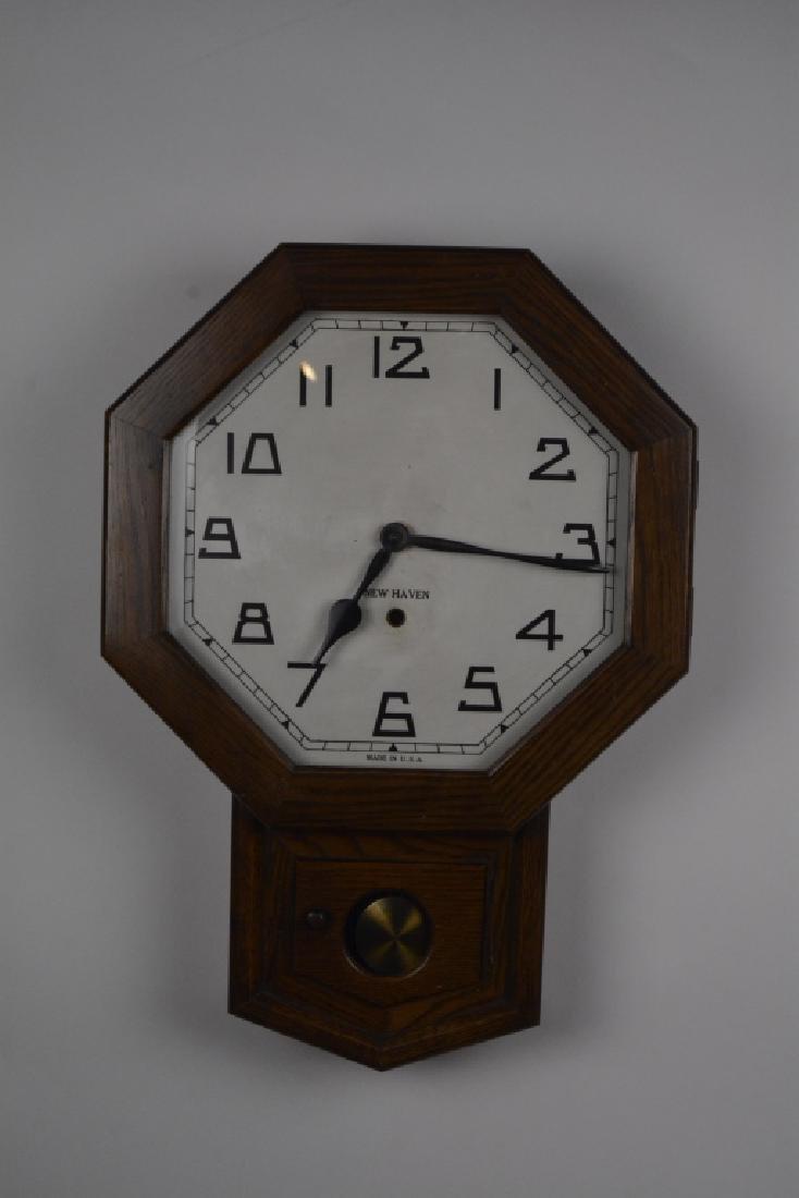 New Haven Drop Octagon Regulator Wall Clock