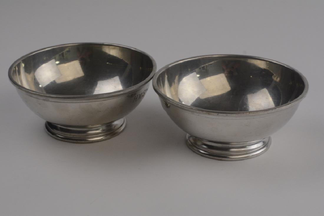 Two Old English Pewter Naval Mess Bowls