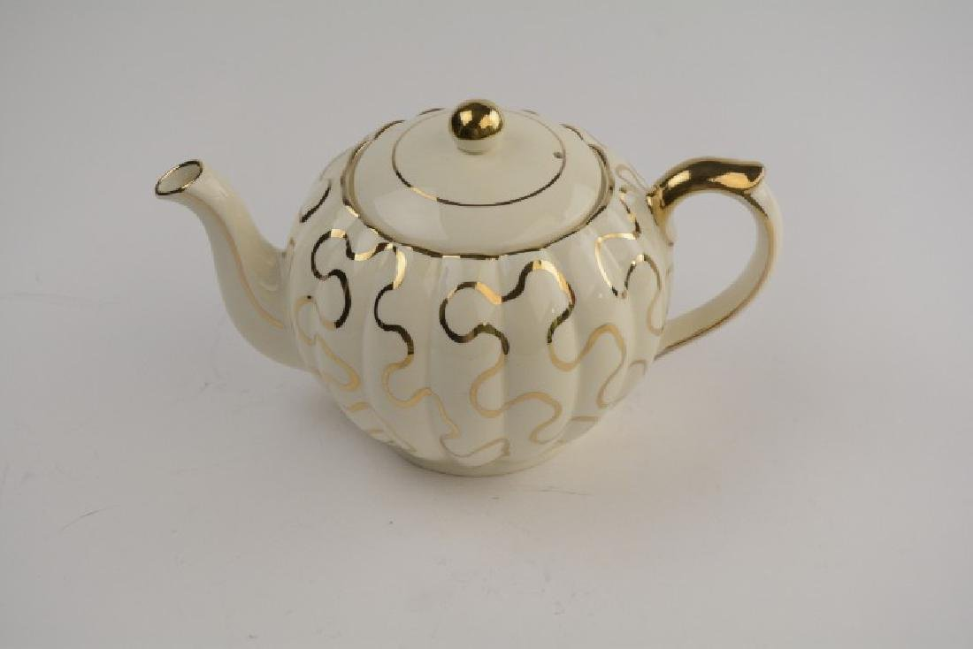 English State Gibson Ivory Tea Pot w/ Gold Design