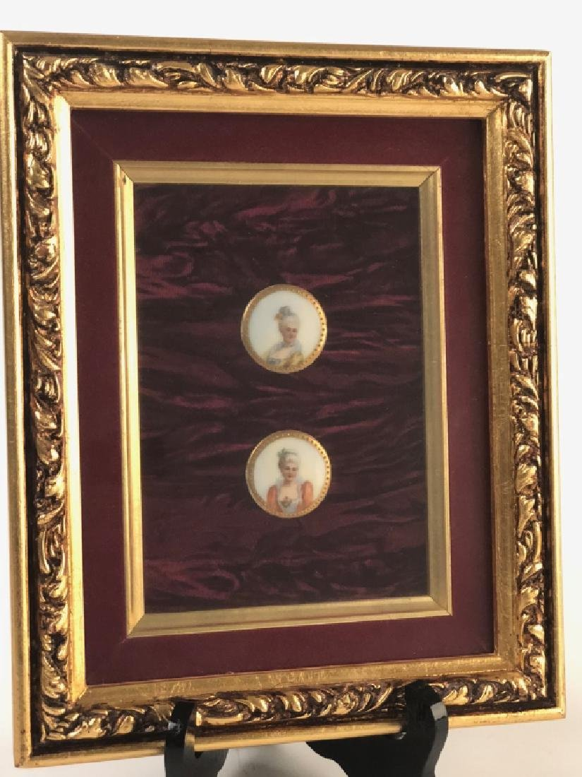 Detailed Painted Sm. Medallions Victorian Ladies
