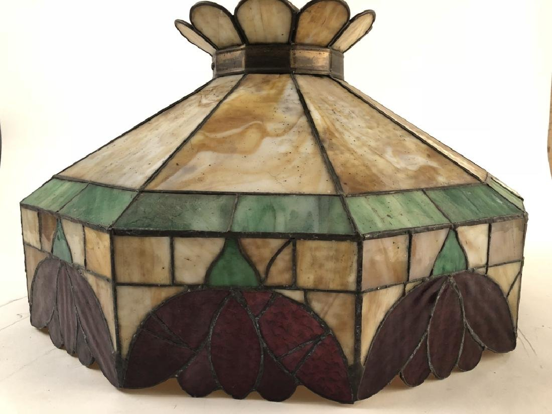 Tiffany Style Antique Stained Glass Chandelier