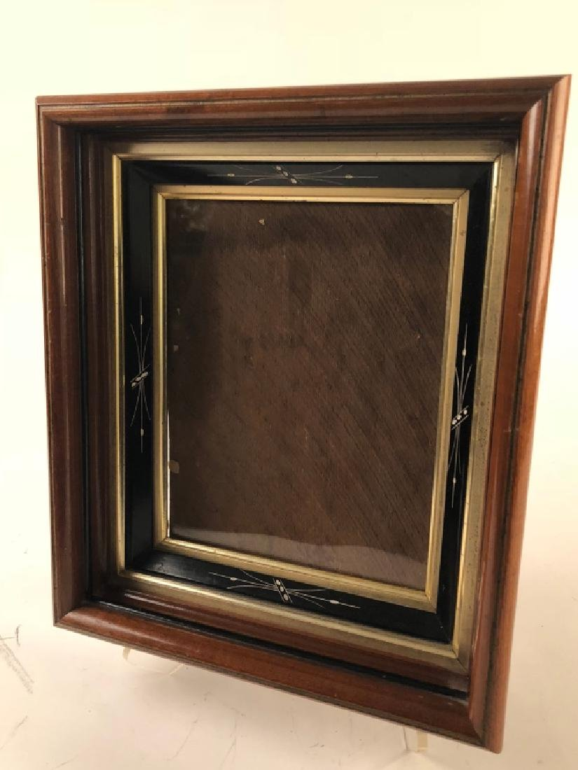 Eastlake Victorian Walnut Ebonized Picture Frame