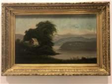 Antique Hudson River School Painting -Artist Unk.