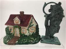 Cast Iron Cottage  Whimsical Door Stops