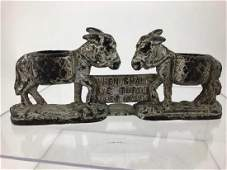 Vintage Cast Iron Donkey Match Holder Door Stop