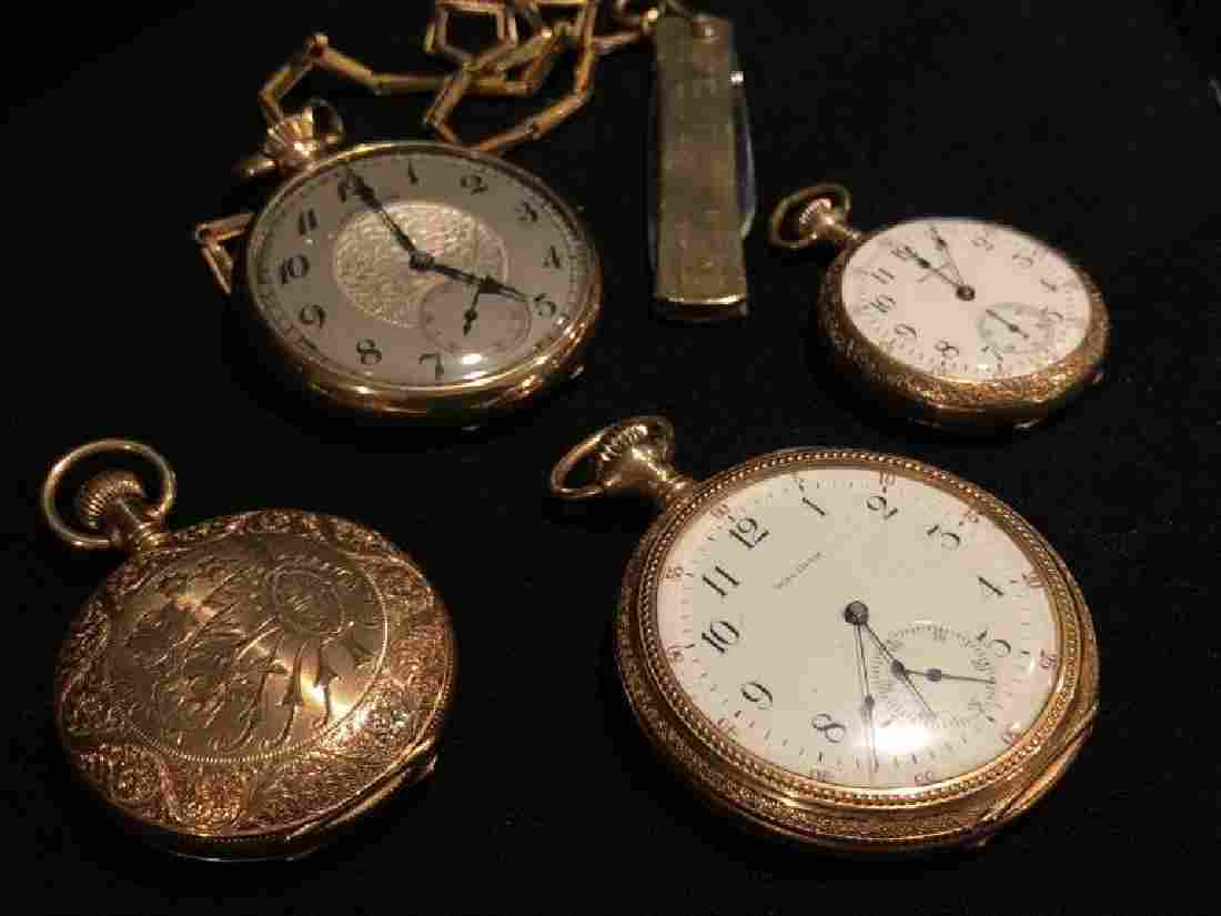 Four Antique Gold Filled Pocket Watches
