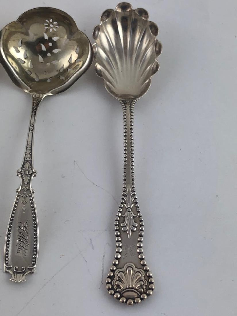 3 Unique Assorted Sterling Silver Serving Spoons - 3
