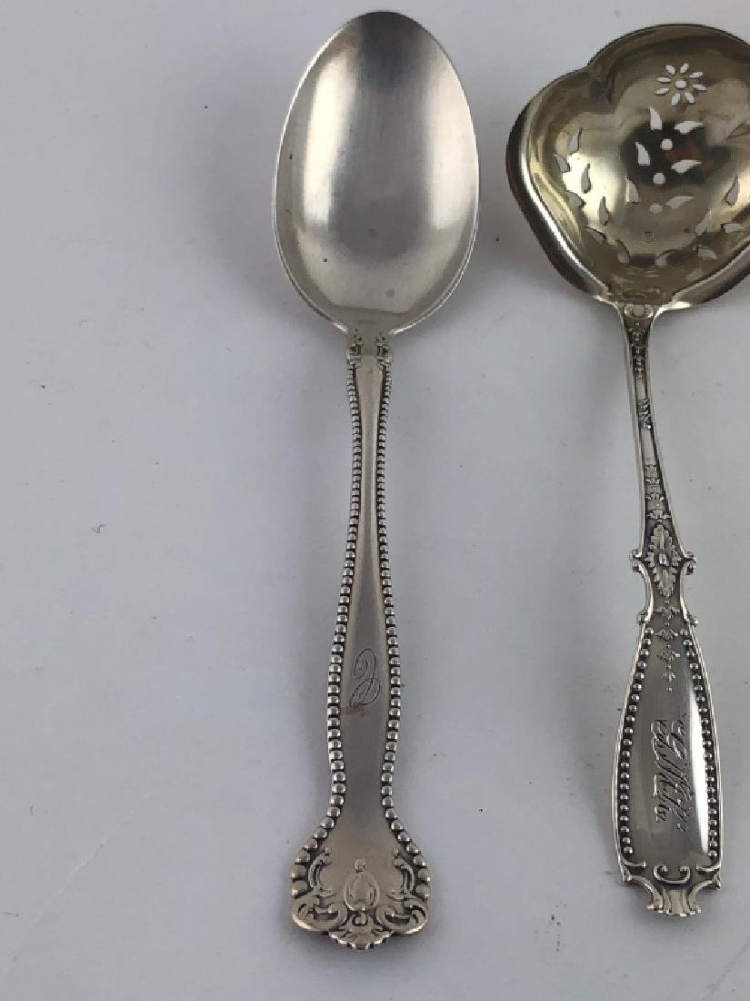 3 Unique Assorted Sterling Silver Serving Spoons - 4