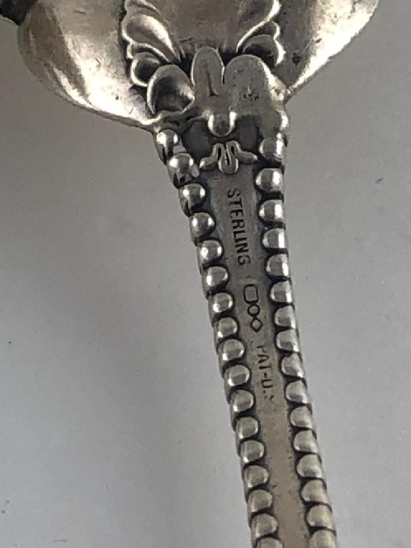 3 Unique Assorted Sterling Silver Serving Spoons - 8