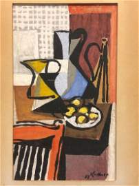 Rare 1937 Watercolor Still Life Fritz Kuttner