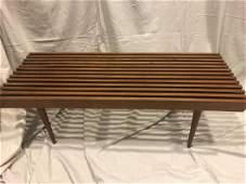 MidCentury Danish Modern Slat Bench / Coffee Table