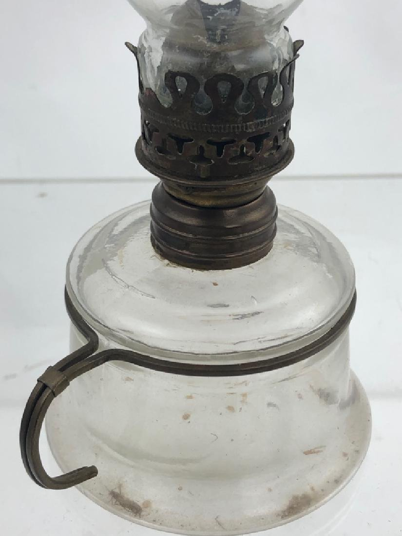 Lot of 3 Miniature Finger Glass Oil Lamps - 3