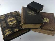 Four Assorted Antique Bibles from 1800's