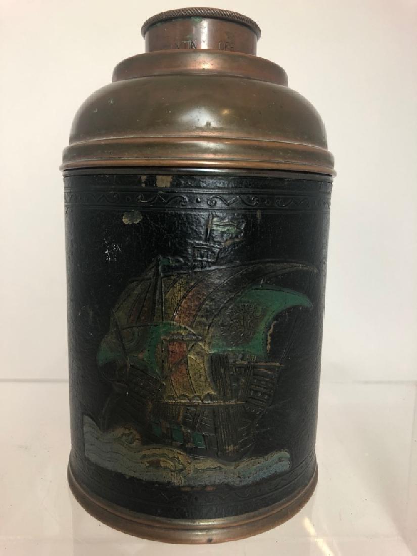 """1930's Vintage Copper Cigar Humidor  """"Rumidor Co."""""""
