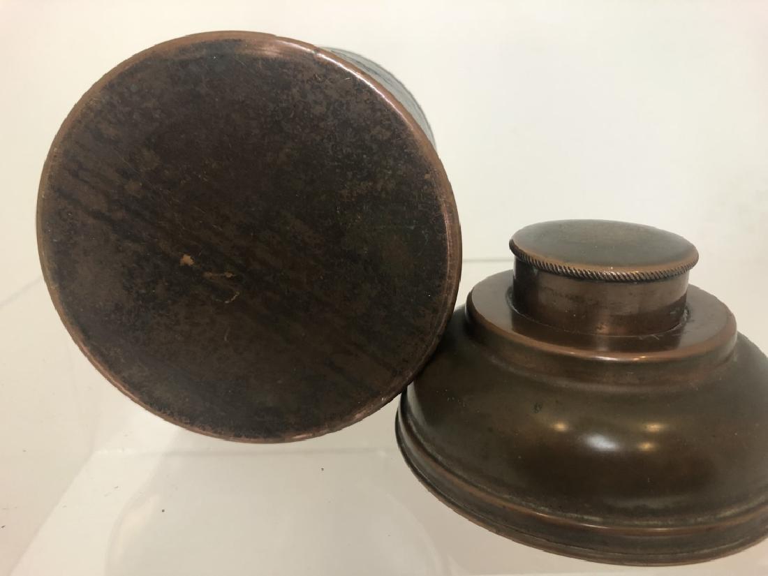 """1930's Vintage Copper Cigar Humidor  """"Rumidor Co."""" - 6"""