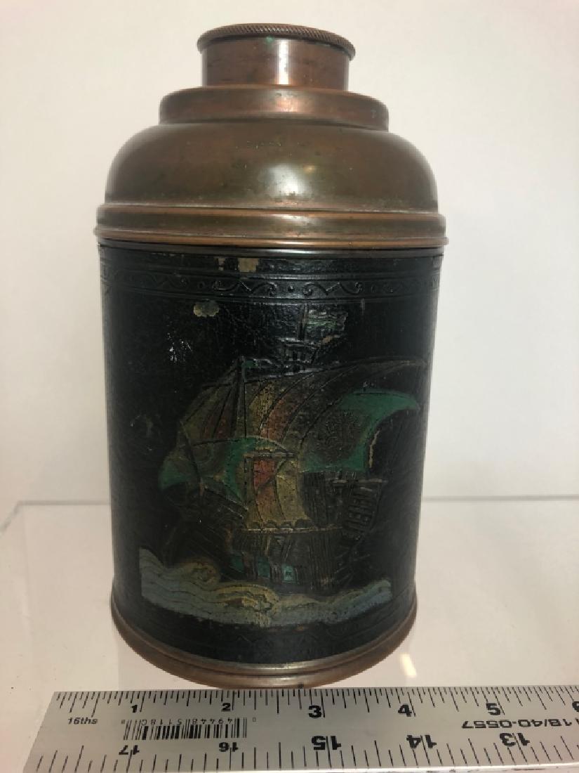 """1930's Vintage Copper Cigar Humidor  """"Rumidor Co."""" - 8"""