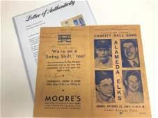 17 Baseball Stars Signed 1942 Program PSA/DNA