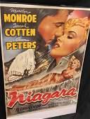 Authentic Movie Poster Niagara w Marilyn Monroe