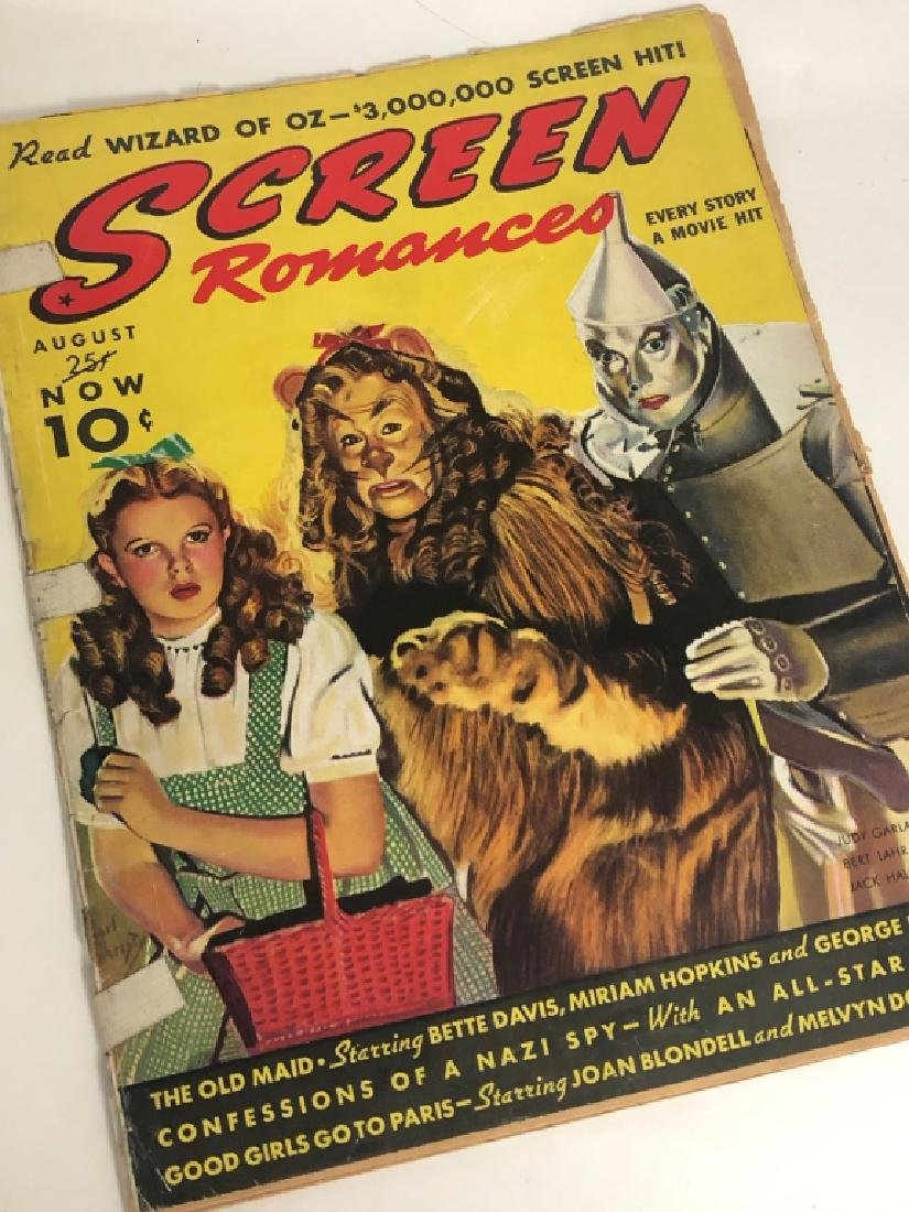 "Rare 1939 ""Screen Romances"" Oz Cover Magazine"