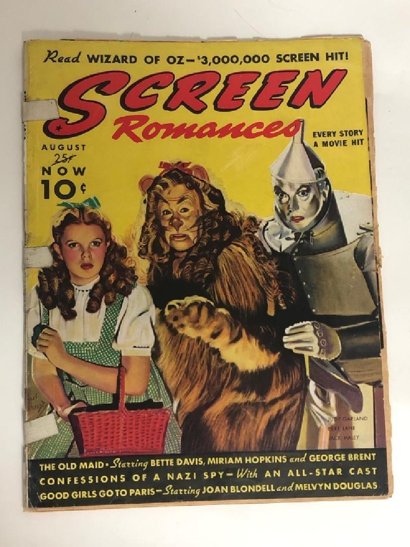 "Rare 1939 ""Screen Romances"" Oz Cover Magazine - 2"