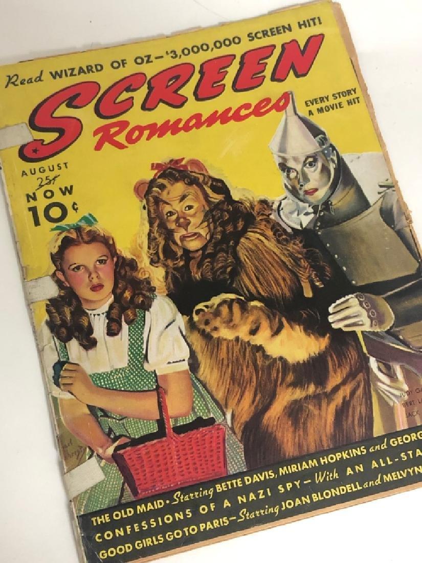 "Rare 1939 ""Screen Romances"" Oz Cover Magazine - 3"