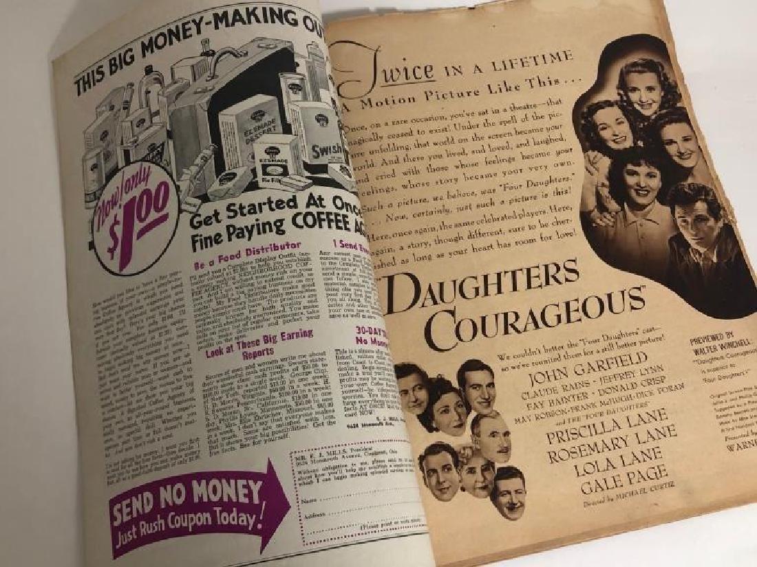"Rare 1939 ""Screen Romances"" Oz Cover Magazine - 5"