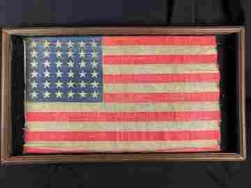 "Original 36 Star US Flag c. 1865  (17"" x 27"")"