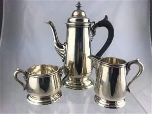 Lunt Sterling 3 Pc. Tea/Coffee Server, Cream&Sugar