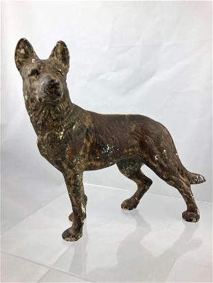 Hubley Cast Iron German Shepherd Door Stop
