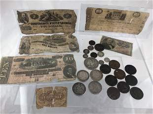 Misc. Lot of US Coins & Paper Money