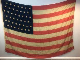 Large Antique 44 Star American Flag