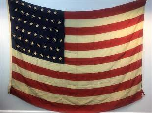 Large Antique 48 Star American Flag