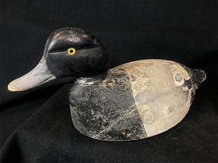Chauncey Wheeler 1930's Carved Wooden Decoy